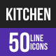 Kitchen Line Inverted Icons