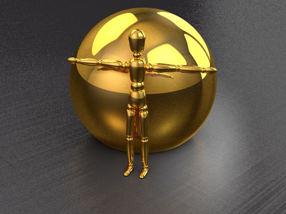 2 realistic Gold Materials (C4D R16) - 3DOcean Item for Sale