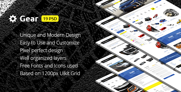Gear — Automotive Business & Auto Parts Store PSD Template