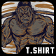 Monkey Muscular T-Shirt Design