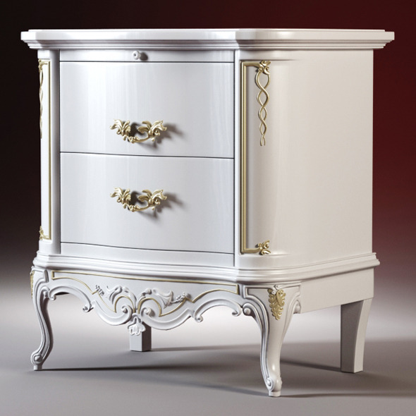 3DOcean High quality model of the bedside tables 1548970