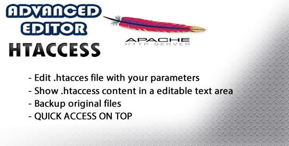 Advanced Editor htaccess