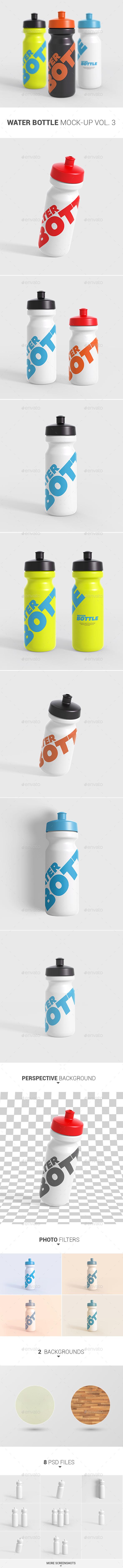 Water Bottle Mock-Up Vol. 3