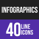 Infographics Line Inverted Icons