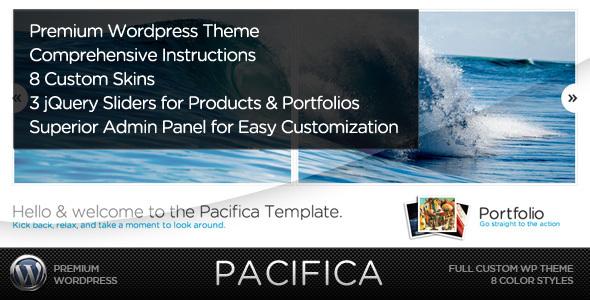 ThemeForest Pacifica WP A Premium Wordpress Portfolio Theme 61047