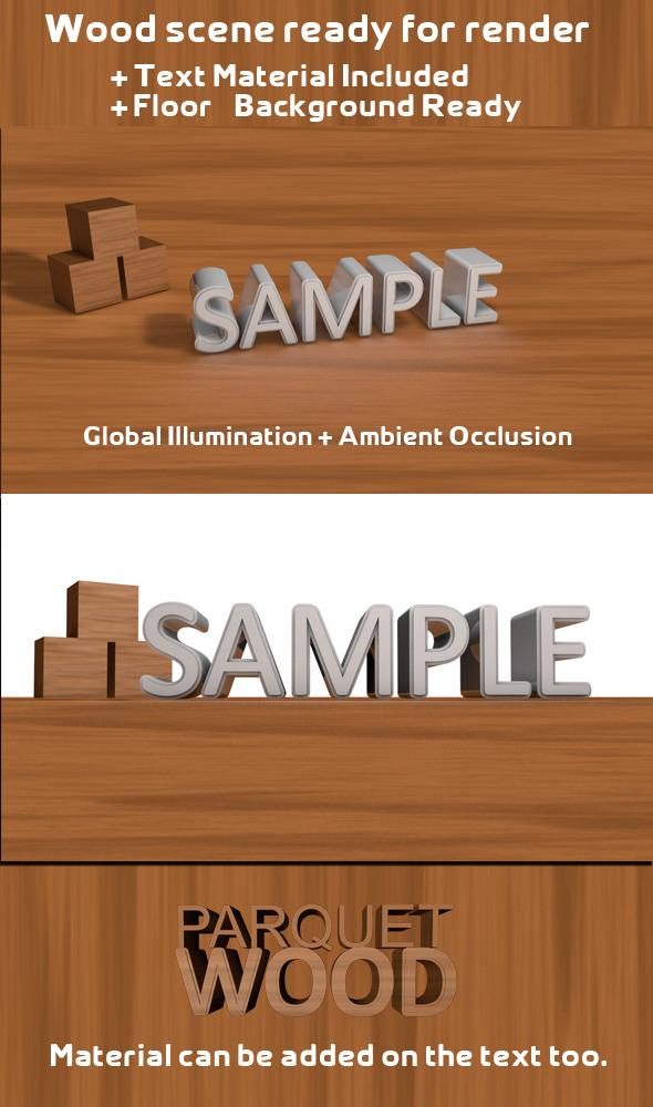 Wood Scene - 3DOcean Item for Sale