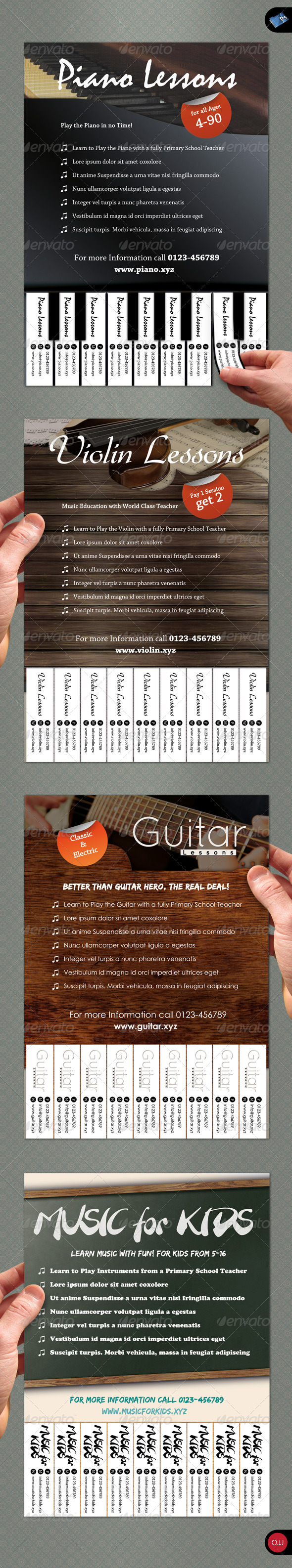 GraphicRiver Tear-Off Flyer Music 1550145