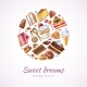 Abstract Sweets Vector Background
