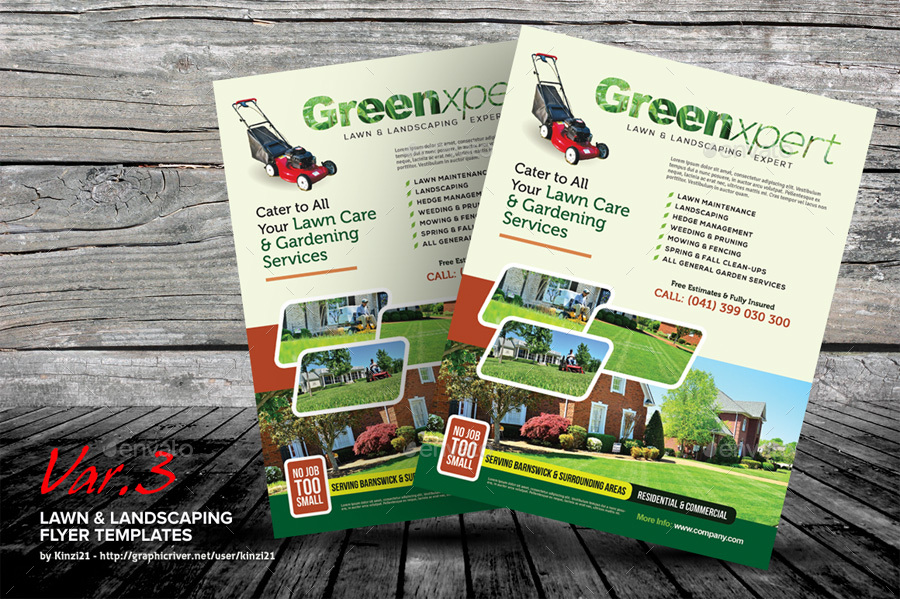 Lawn Amp Landscaping Flyer Templates By Kinzi21 Graphicriver