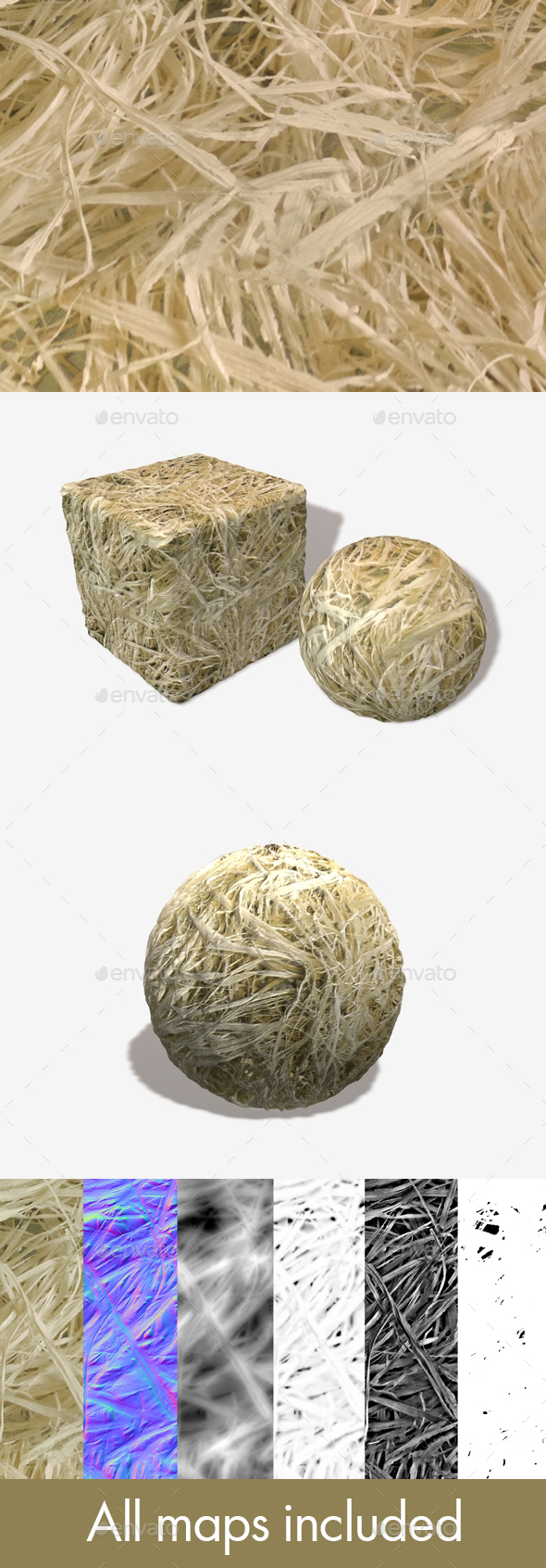 3DOcean Dry Straw Seamless Texture 15514369