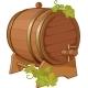 Wine Cask Vine Decorated