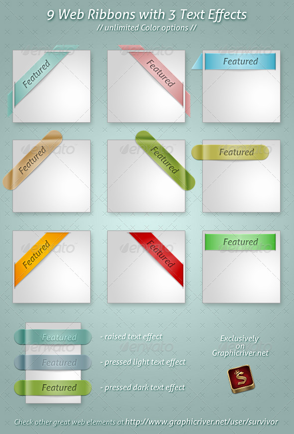 GraphicRiver Web Ribbons 1550291