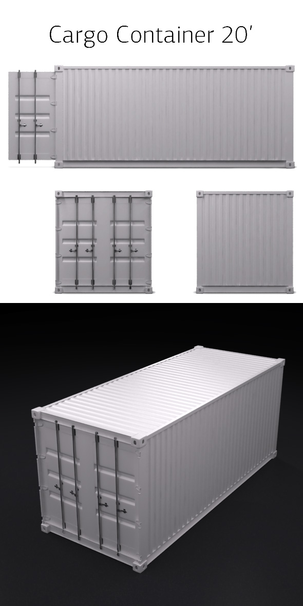 Cargo Container - 3DOcean Item for Sale