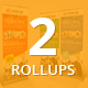 Bundle of 2 Multi Business Rollup Banners