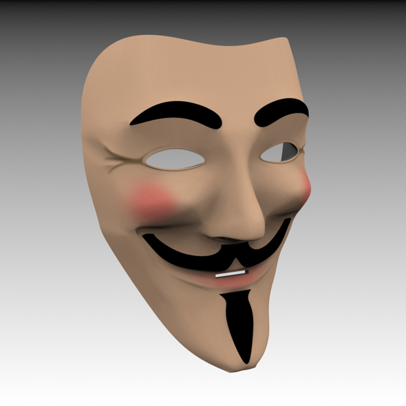 Guy Fawkes Anonymous Mask By Mychaosdesign 3docean