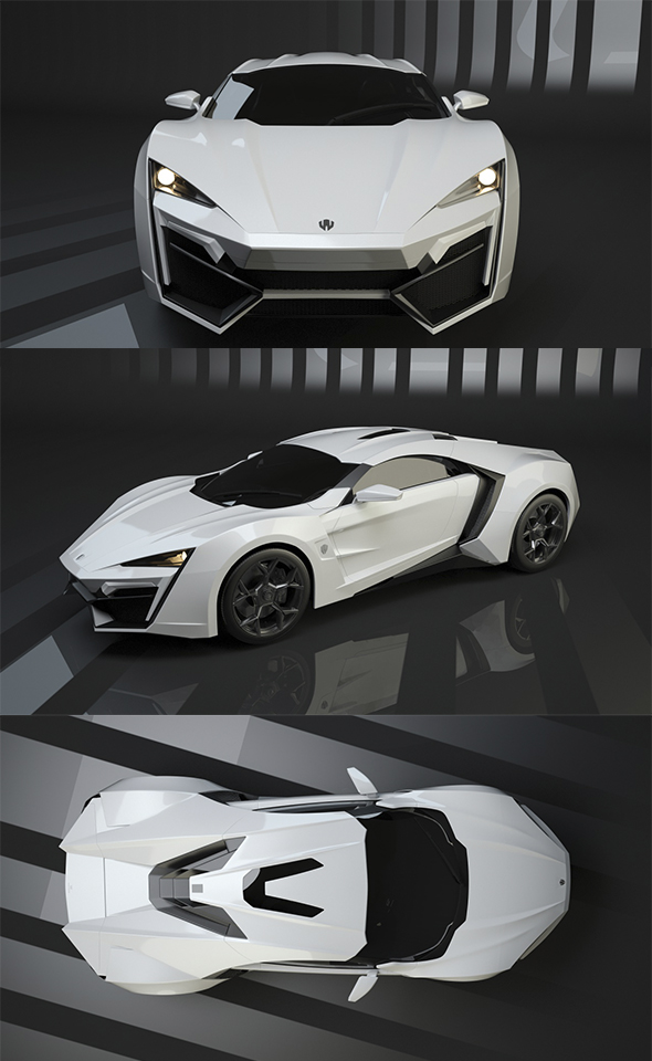 W Motors Lykan-Hypersport - 3DOcean Item for Sale