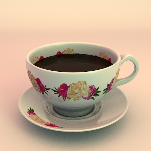 elegant coffee cup - 3DOcean Item for Sale