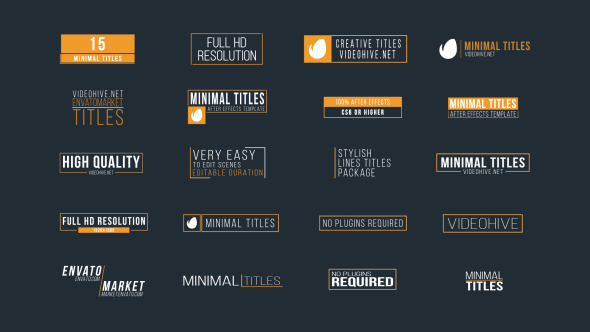 Download 20 Minimal Titles nulled download