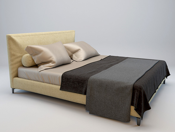 Minotti-Andersen bed model - 3DOcean Item for Sale