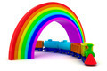 Train under rainbow - PhotoDune Item for Sale