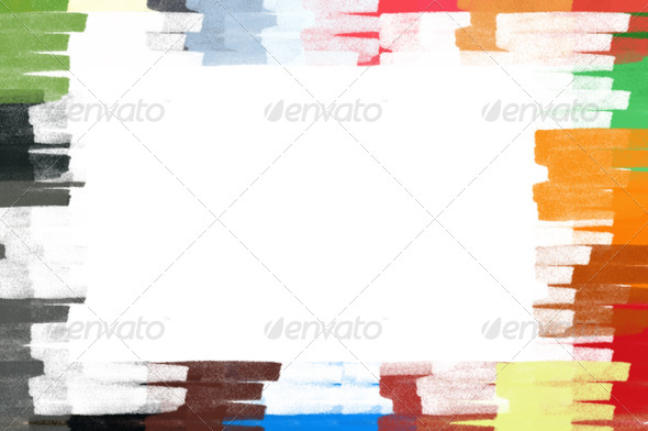 pastel colors border frame illustration - Stock Photo - Images