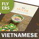 Vietnamese Restaurant Menu Flyers 2 – 4 Options