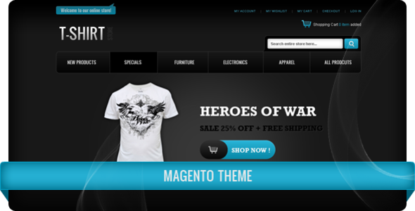T-Shirt Store Magento Theme - ThemeForest Item for Sale