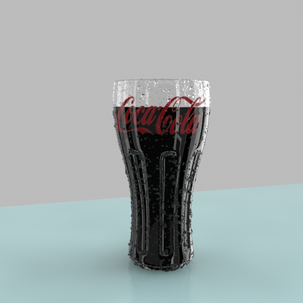 coca cola glass full - 3DOcean Item for Sale