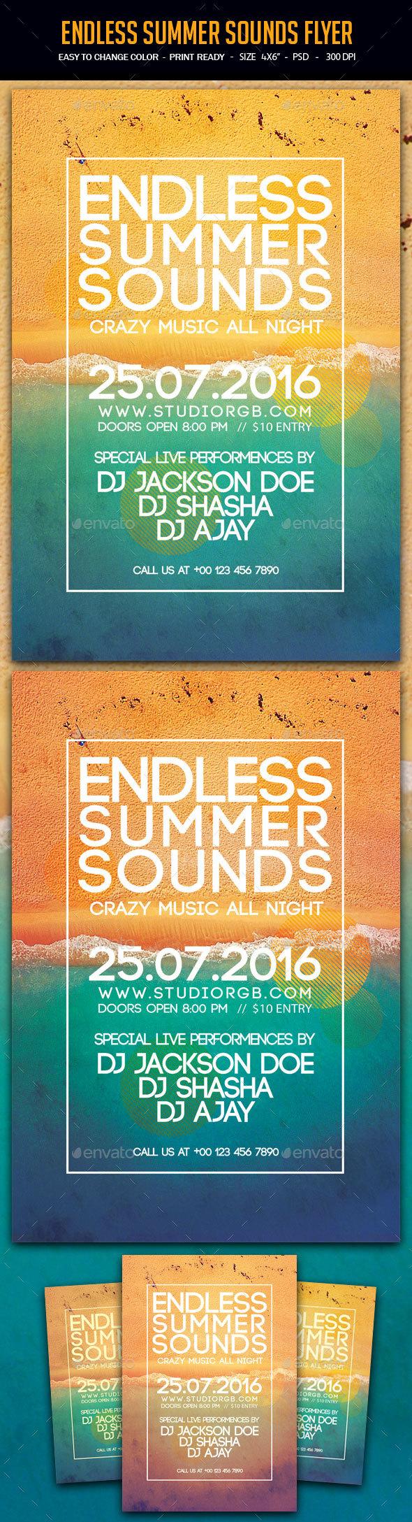 Endless Summer Sounds Flyer