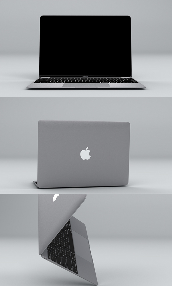 Apple Macbook 2015 - 3DOcean Item for Sale