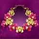 Oval Banner with Orchids