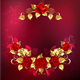 Symmetrical Garland of Gold and Red Roses