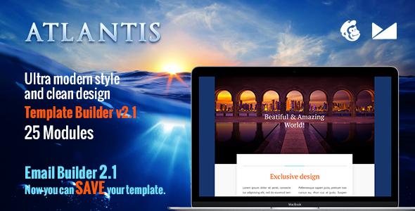Atlantis Email-Template + Online Emailbuilder 2.1