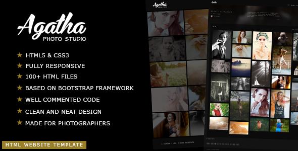 Agatha - Photography Portfolio Website Template
