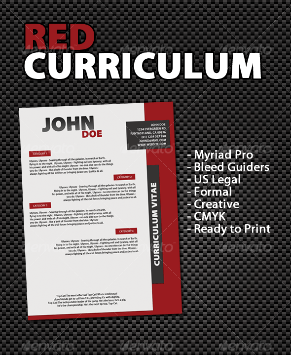 GraphicRiver Red Curriculum 61263