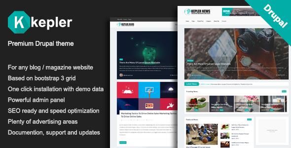 Download Kepler – Premium Blog/Magazine Drupal theme