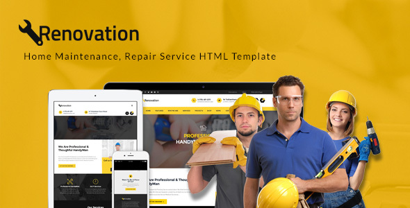 Renovation - Home Maintenance, Repair Service HTML Template