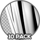 Black and White Clean Curtains - 10 Pack