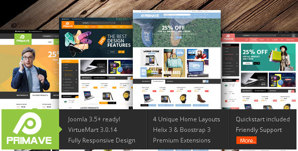 Image of Vina Primave - Multipurpose Joomla Virtuemart Template