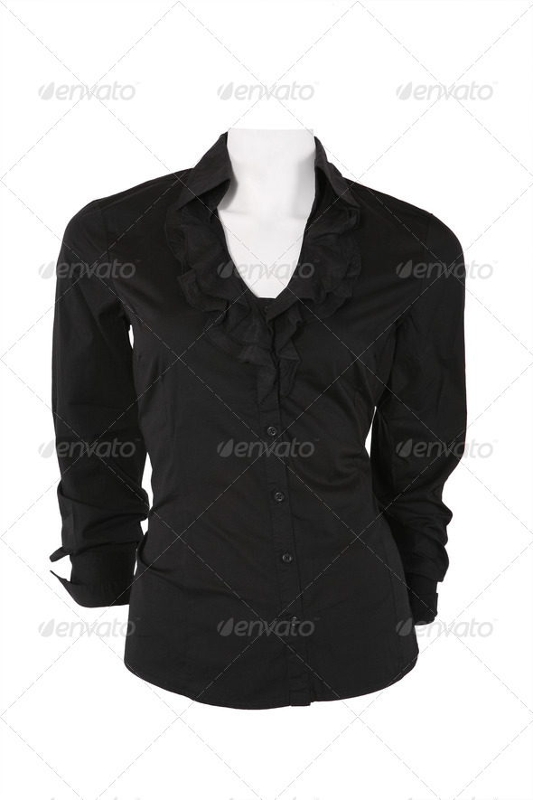 Elegant female blouse isolated on white - Stock Photo - Images
