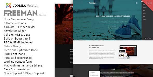 Freeman - Multipurpose One Page Joomla Theme