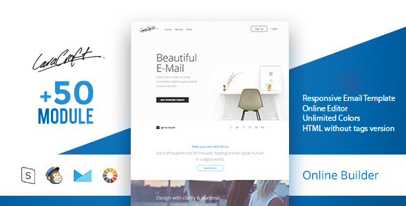 Carft - Modern Email Template + Online Access