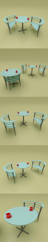 modern Tea Table - 3DOcean Item for Sale