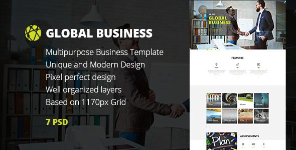 GB — Multipurpose Global Business, Freelance & Portfolio PSD Template