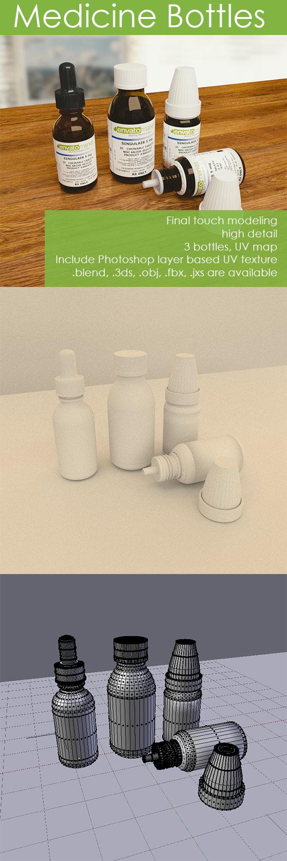 3DOcean Medicine Bottles 15555109