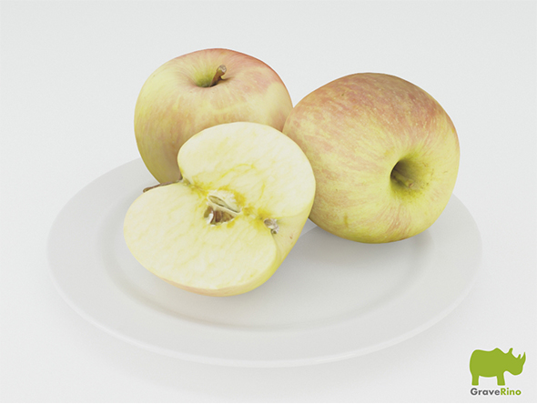 Apples 3D Model - 3DOcean Item for Sale