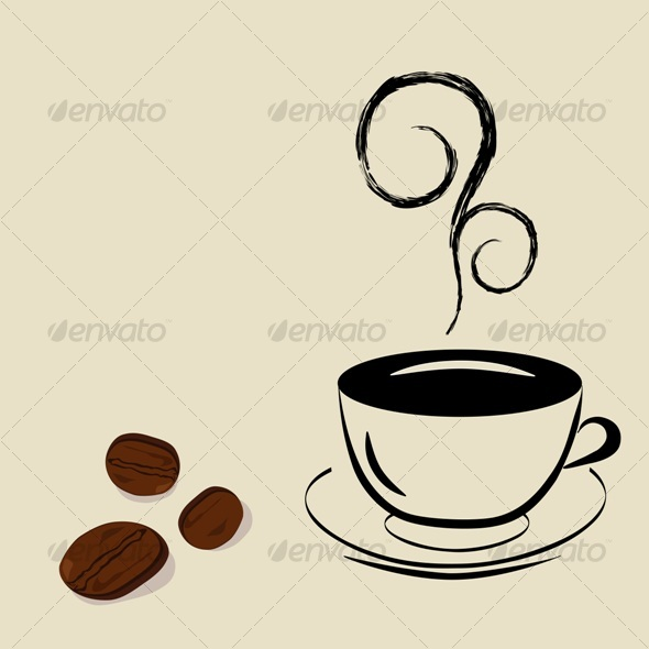 Graphic River Cup of coffee Vectors -  Objects  Food 61325