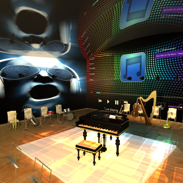 Digital Music Room - 3DOcean Item for Sale