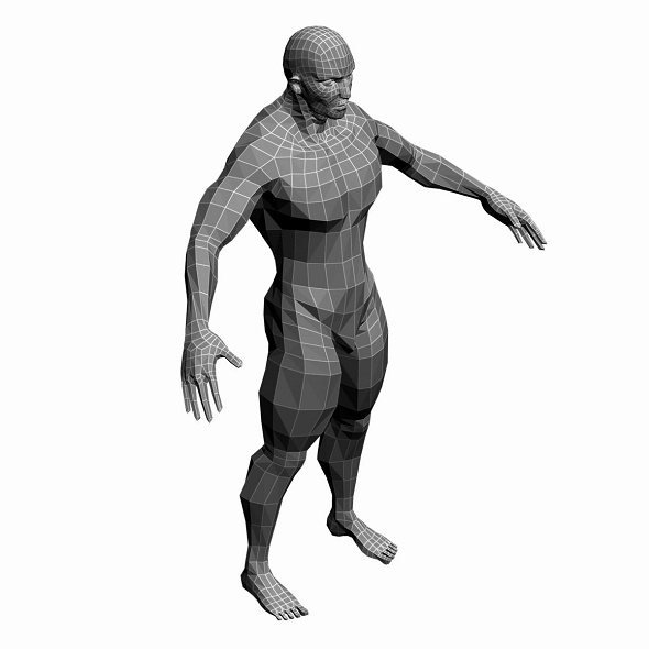 Low Poly Base Mesh man - 3DOcean Item for Sale
