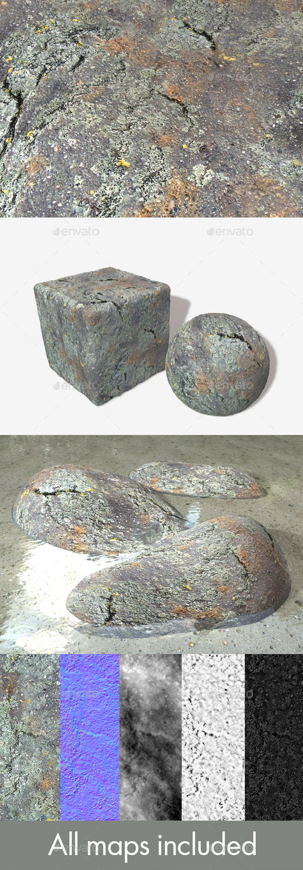 Rock Mould Seamless Texture - 3DOcean Item for Sale